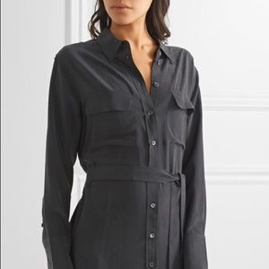 equipment Delaney silk tie waist shirtdress